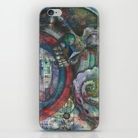 lovecraft iPhone & iPod Skins featuring Lovecraft by NarwhalWolf