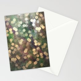 Magical Lights Gold Dots Stationery Cards