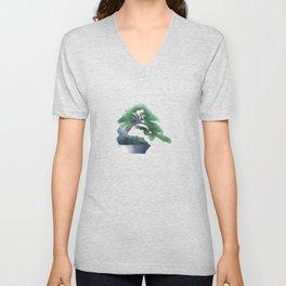 Bonsai Watercolor Unisex V-Neck