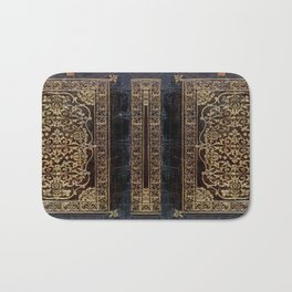 Gilded Leather Tome Bath Mat