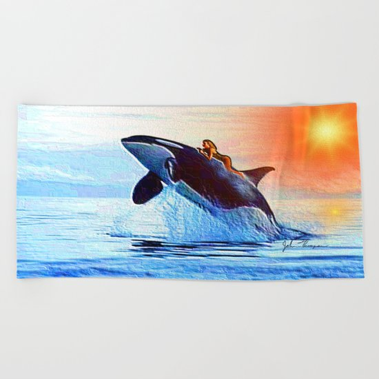Orca Queen Beach Towel