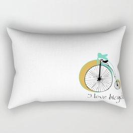 I love bicycle Rectangular Pillow