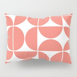 Mid Century Modern Geometric 04 Living Coral Pillow Sham