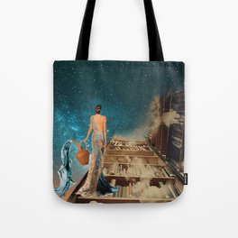 Aquarius and her Books Tote Bag