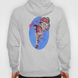 Vintage 1950's Rockabilly Butterfly Girl Pin-up Hoody
