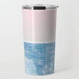 Pastel Sea Landscape Design Travel Mug