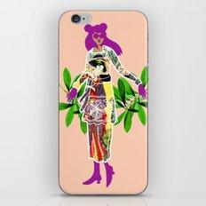 Girl in Utamaro Dress iPhone & iPod Skin