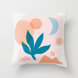 Abstraction_Nature_Companion_001 Throw Pillow