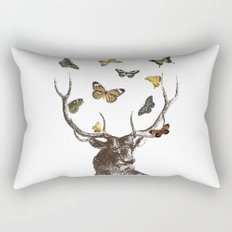 The Stag and Butterflies Rectangular Pillow