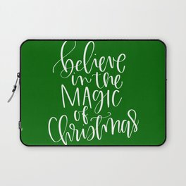 Believe in the Magic of Christmas Laptop Sleeve