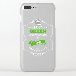 Hero in My Life My Dad MS Awareness Clear iPhone Case