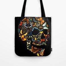 Butterfly Skull Vintage Tote Bag
