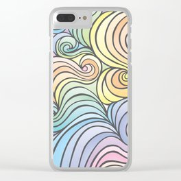 The Swirly Whirly Clear iPhone Case