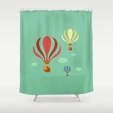 Hot Air Balloon Ride Shower Curtain