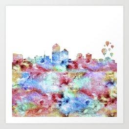 Albuquerque City Skyline Art Print