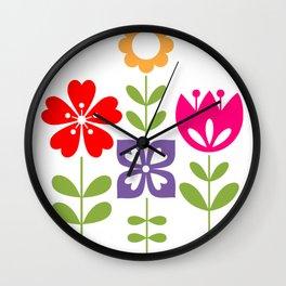 Flowers garden Wall Clock
