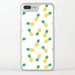 PINEAPPLE ANANAS FRUIT FOOD PATTERN Clear iPhone Case