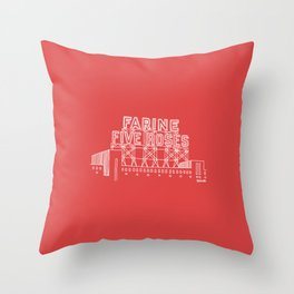 Montréal - Farine Five Roses - White Throw Pillow