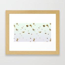 Gold Flakes Framed Art Print