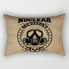 Nuclear Tomorrow vintage Rectangular Pillow