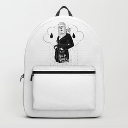 Nice Girls Don't - b/w lineart Backpack