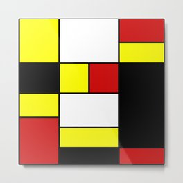 Abstract #378 Mondriaan Metal Print