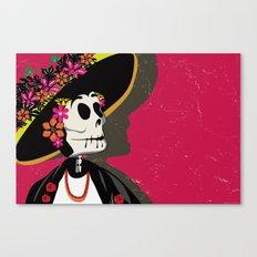 Dia de los Muertos Woman Canvas Print