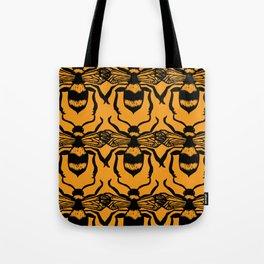Honey Bee Block Print Tote Bag