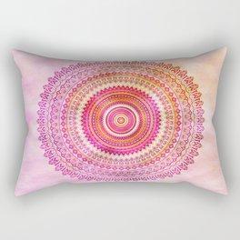 Watercolor Mandala in warm pastel colors Rectangular Pillow