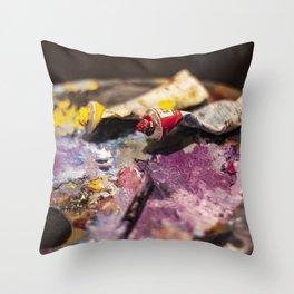 Paints Throw Pillow