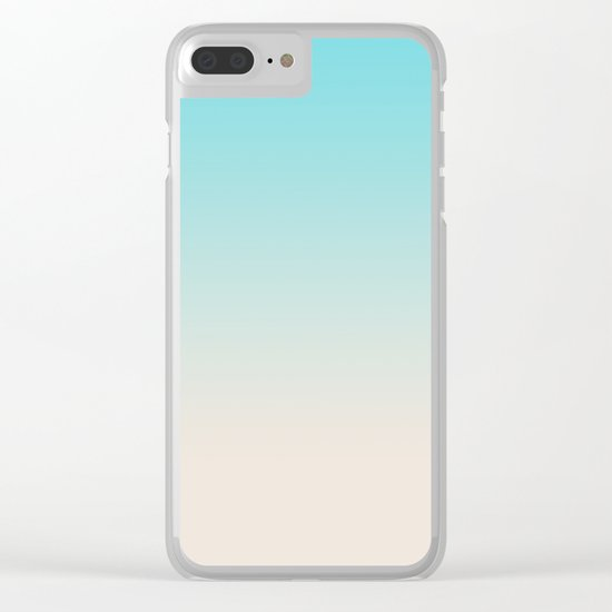 Ombre  digital illustration pastel colors 2 Clear iPhone Case