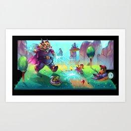 Diddy Kong Racing Art Print