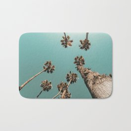{1 of 2} Palm Trees = Happy // Teal Summer Sky Bath Mat