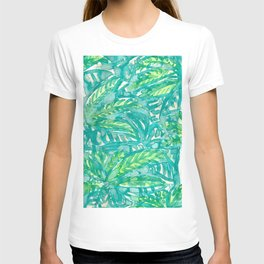 Turquoise & Lime Leaves T-shirt