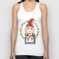 gnome Tank Tops featuring Female Gnome by Fercute