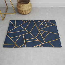 Art Deco Blue Rug