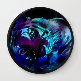 Blacklight Tiger Dreams Wall Clock
