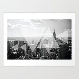 New York Abstract White Print Art Print
