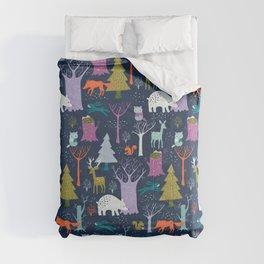 winter woodland animals Comforters
