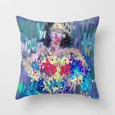 Wonder Type Woman - Abstract Pop Art Comic Throw Pillow