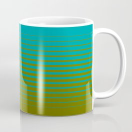 gradient stripes aqua olive Coffee Mug