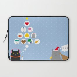 Santa Cat Laptop Sleeve
