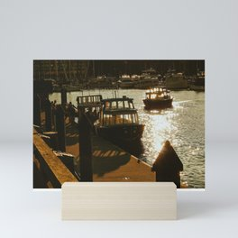 Dock At Sunset Mini Art Print