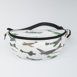 Multiple WW2 Airplanes Fanny Pack