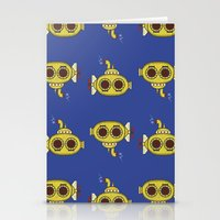 yellow submarine Stationery Cards featuring Yellow submarine by Posterity