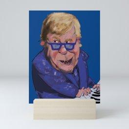 Caricature of Elton John Mini Art Print