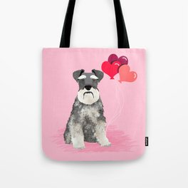 Schnauzer love balloons valentines day schnauzers must have pure breed gifts Tote Bag