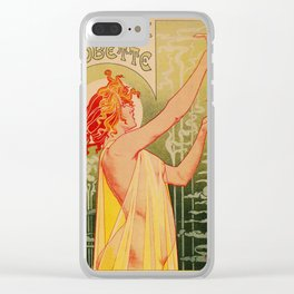 Classic French art nouveau Absinthe Robette Clear iPhone Case