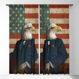 Official Portrait of Senator Silas Eagle Blackout Curtain