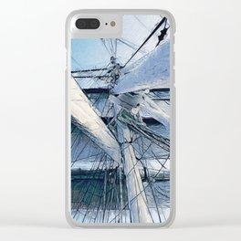 Nautical Sailing Adventure Clear iPhone Case